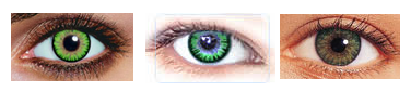 green colored contact lenses for dark eyes or brown eyes