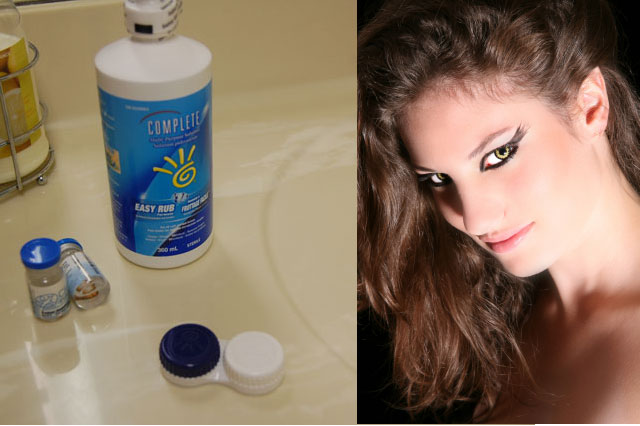 how to care for your halloween sfx contact lenses