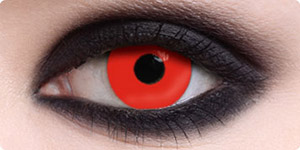 zombie red contact lenses for Halloween