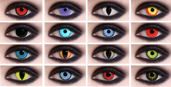 Prescription Colored Contacts Halloween