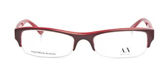 armani eyeglasses in red
