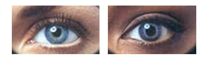 Coopervision Expressions blue contact lenses