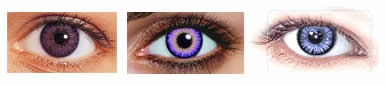 violet contacts