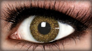Gold Glitter and Sparkle Contact lenses
