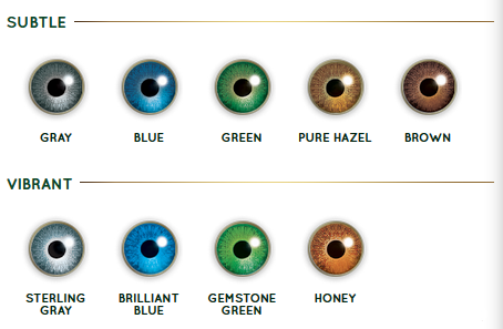 9 Air Optix Colors Available - from Subtle to Vibrant